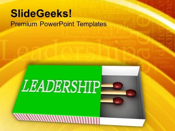 Match Sticks And Matchbox Leadership PowerPoint Templates Ppt Backgrounds For Slides 0713