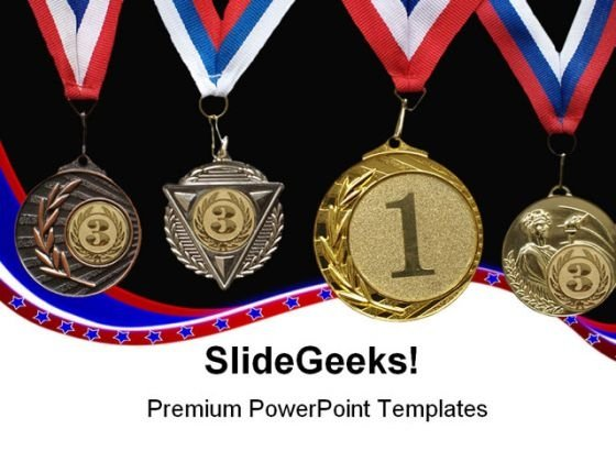 Medal Sports PowerPoint Themes And PowerPoint Slides 0511