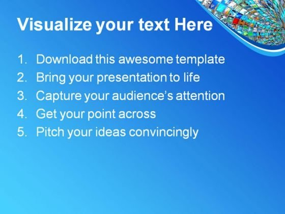 media tunnel with binary technology powerpoint templates and, Modern powerpoint