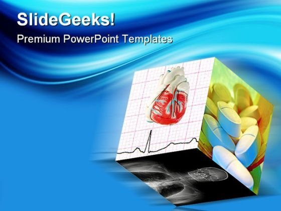 Medical Cube Science PowerPoint Themes And PowerPoint Slides 0411