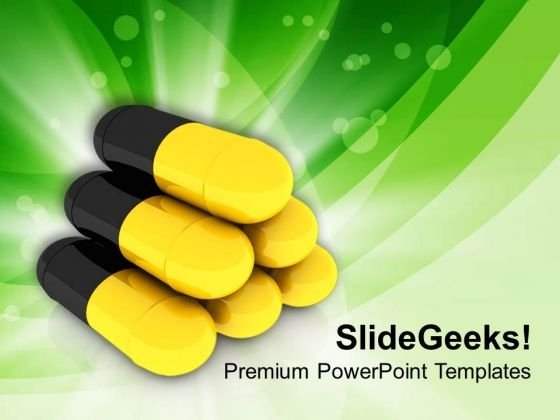 Medical Pills Are Used For Treatment PowerPoint Templates Ppt Backgrounds For Slides 0613