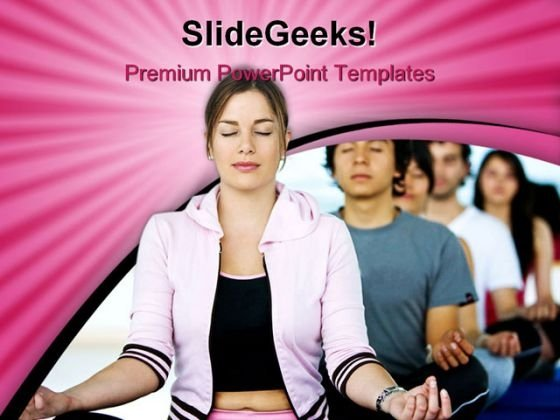 Meditation Lifestyle PowerPoint Themes And PowerPoint Slides 0311