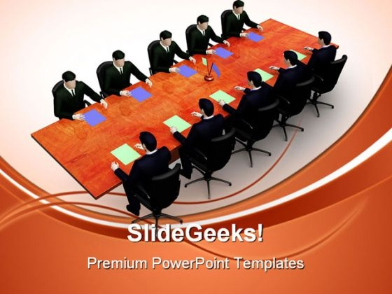 Meeting Business PowerPoint Themes And PowerPoint Slides 0511