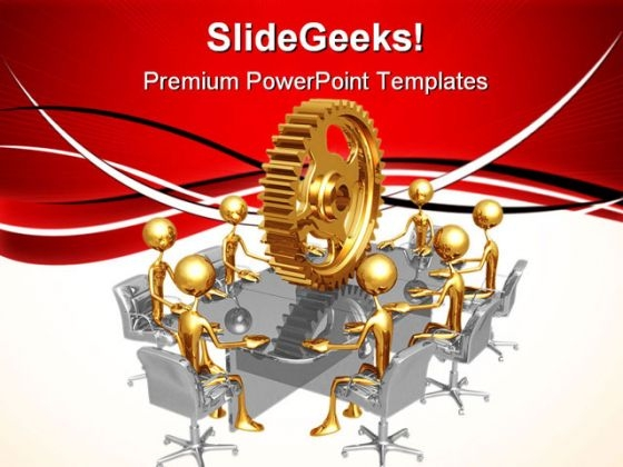 Meeting Industrial PowerPoint Templates And PowerPoint Backgrounds 0711