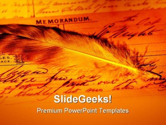 Memorandum Americana PowerPoint Themes And PowerPoint Slides 0711