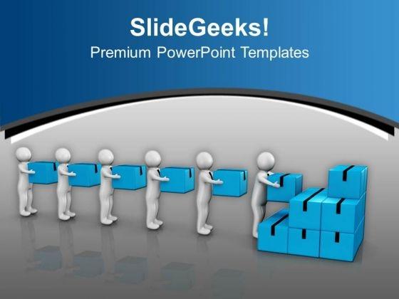 Men At Work Illustration PowerPoint Templates Ppt Backgrounds For Slides 0713