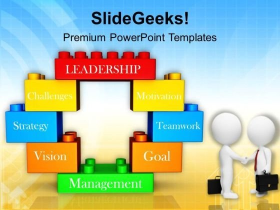 Men Doing Business Deal Lego Blocks PowerPoint Templates Ppt Backgrounds For Slides 0313