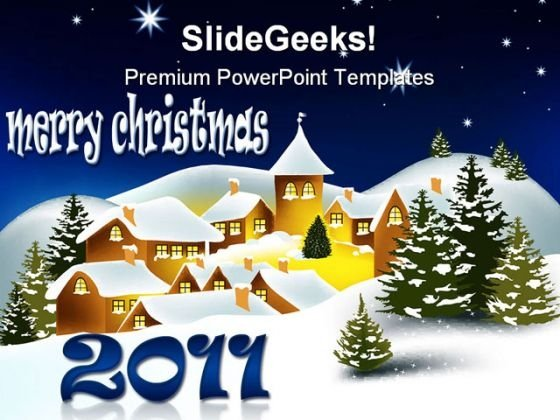 Merry Christmas01 Festival PowerPoint Template 1010