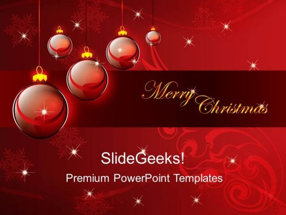 Merry Christmas Abstract Background Powerpoint Templates And
