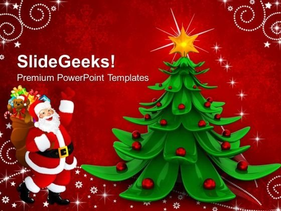 Merry Christmas Abstract Background PowerPoint Templates And PowerPoint Themes 1112