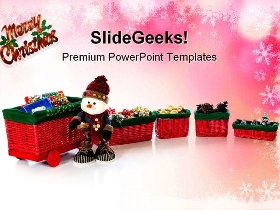 Merry Christmas Abstract PowerPoint Themes And PowerPoint Slides 0911