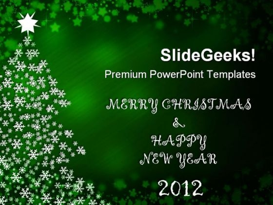 Merry Christmas And Happy New Year Festival PowerPoint Templates And PowerPoint Backgrounds 1211