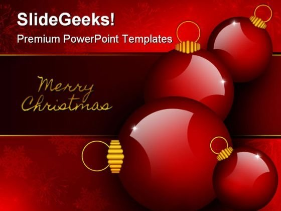 Merry Christmas Background Abstract PowerPoint Templates And PowerPoint Backgrounds 1211