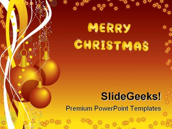 Merry Christmas Festival PowerPoint Templates And PowerPoint Backgrounds 1211