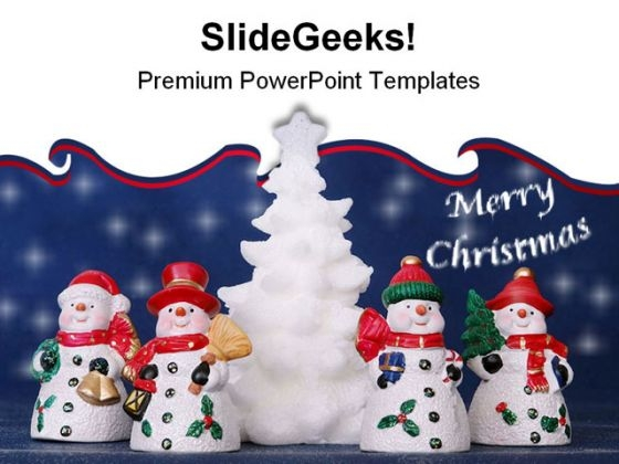 Merry Christmas Festival PowerPoint Themes And PowerPoint Slides 0511