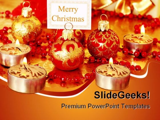 Merry Christmas Festival PowerPoint Themes And PowerPoint Slides 0611