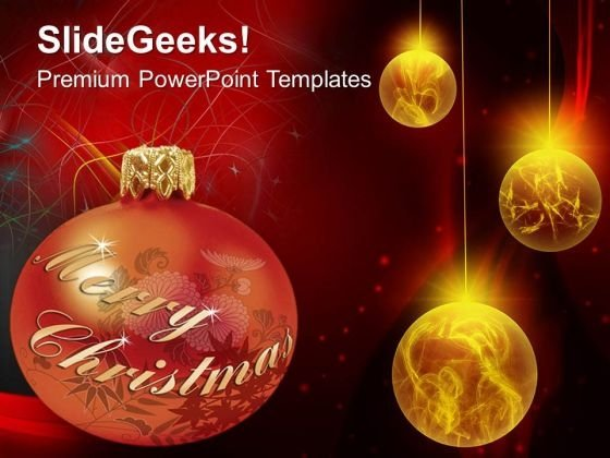Merry Christmas Graphic Background PowerPoint Templates Ppt Backgrounds For Slides 0613