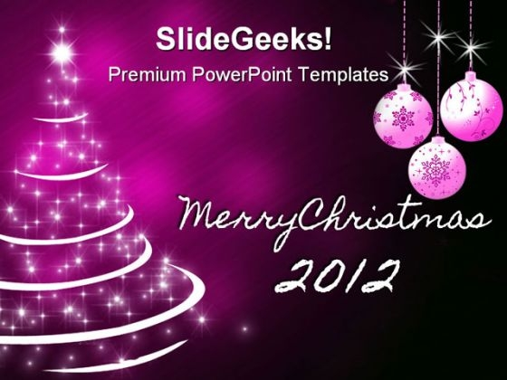 Merry Christmas Tree Abstract PowerPoint Templates And PowerPoint Backgrounds 1211
