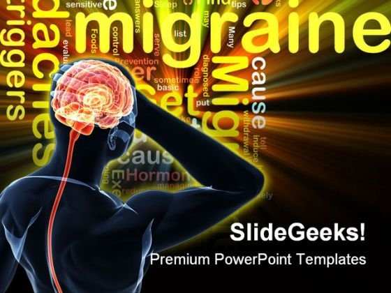 Migraine Medical PowerPoint Template 0610