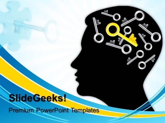 Mind Find The Right Key Business PowerPoint Templates And PowerPoint Themes 0512