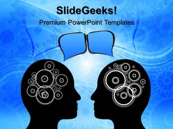 Mind With Gears Industrial PowerPoint Templates And PowerPoint Themes 0612