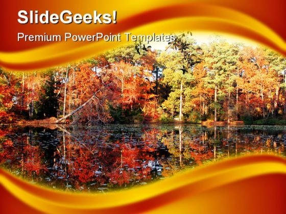 Mirror Lake Beauty PowerPoint Template 1110