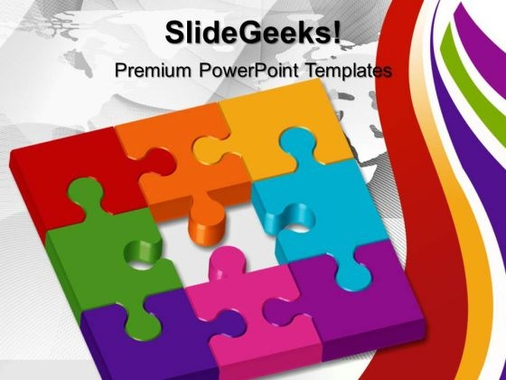 Missing Puzzle Metaphor PowerPoint Templates And PowerPoint Themes 0512