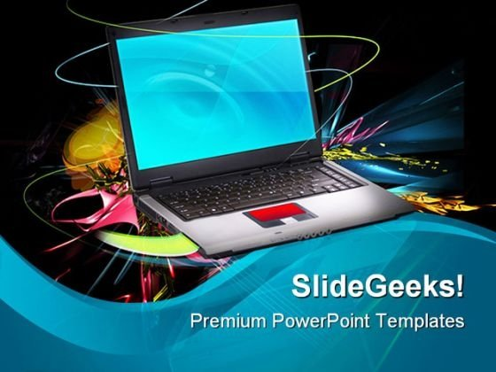 Modern And Stylish Notebook Computer PowerPoint Templates And PowerPoint Backgrounds 0411