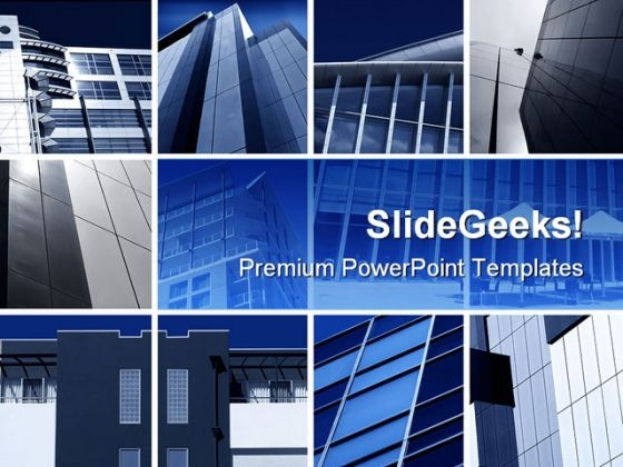 Modern Architecture Montage Business PowerPoint Backgrounds And Templates 1210