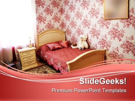 Modern Bedroom Children PowerPoint Themes And PowerPoint Slides 0511