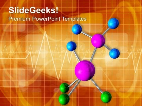 Molecular Structure Of Science PowerPoint Templates Ppt Backgrounds For Slides 0313
