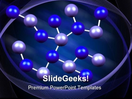 Molecules Formation Medical PowerPoint Templates And PowerPoint Backgrounds 0211