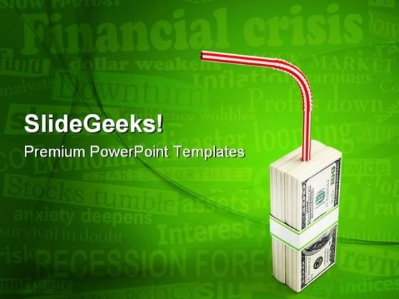 Money Crisis Finance PowerPoint Themes And PowerPoint Slides 0511