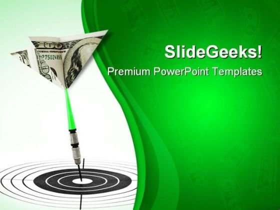 Money Darts And Target Business PowerPoint Templates And PowerPoint Backgrounds 0711