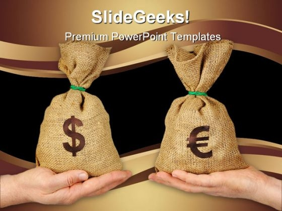 Money Exchange Business PowerPoint Template 0810