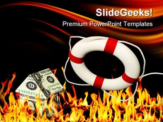 Money House On Fire Metaphor PowerPoint Themes And PowerPoint Slides 0411