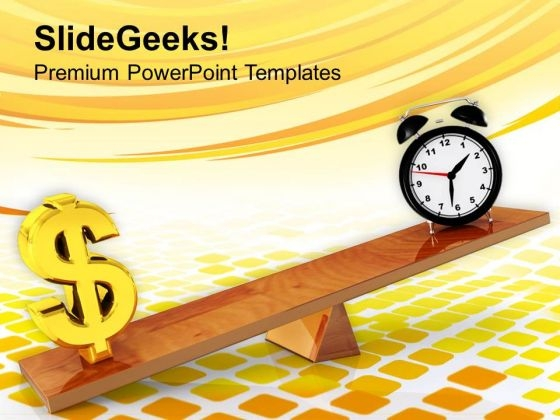 Money Increases With Time In Business PowerPoint Templates Ppt Backgrounds For Slides 0513