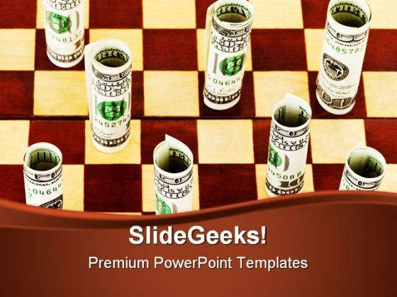 Money On Chess Board Game PowerPoint Templates And PowerPoint Backgrounds 0211