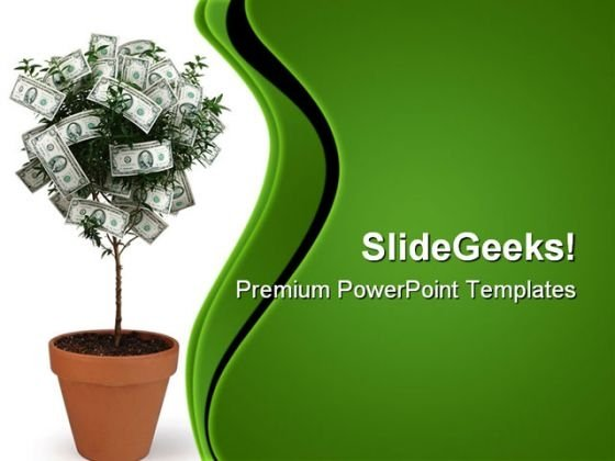 money tree powerpoint templates, slides and graphics, Modern powerpoint
