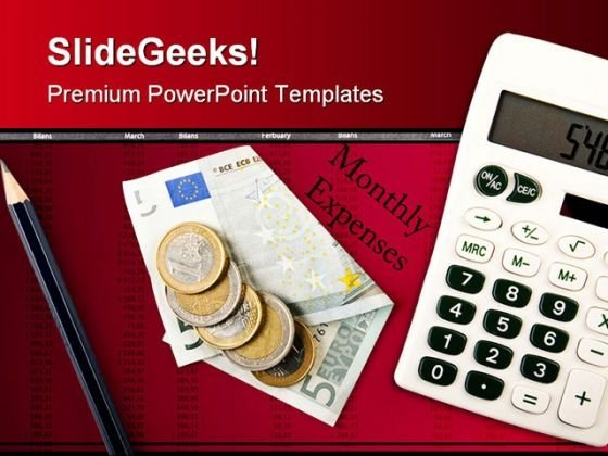 Monthly Expenses Investment PowerPoint Template 0510
