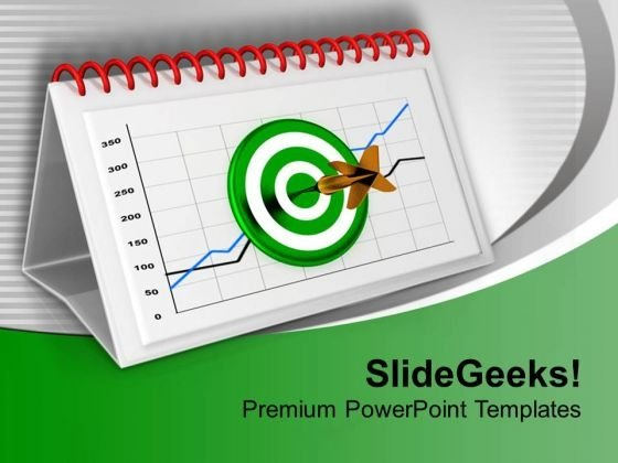 Monthly Target Report Chart For Business PowerPoint Templates Ppt Backgrounds For Slides 0313