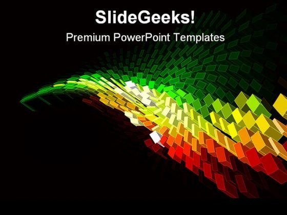 Mosaic Shapes Abstract PowerPoint Themes And PowerPoint Slides 0411