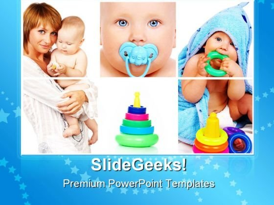 Mother And Child Baby PowerPoint Themes And PowerPoint Slides 0711
