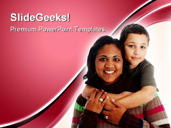 Mother And Son Family PowerPoint Themes And PowerPoint Slides 0711