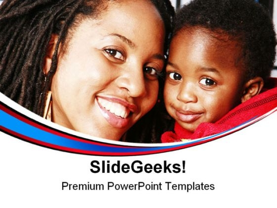 Mother Child Family PowerPoint Templates And PowerPoint Backgrounds 0711