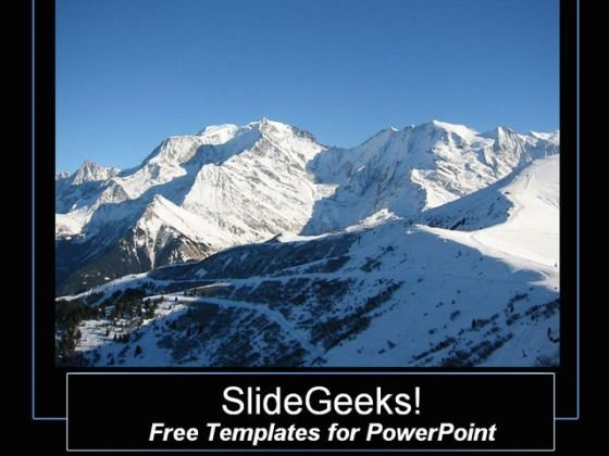Gorgeous Mountain View PowerPoint Template