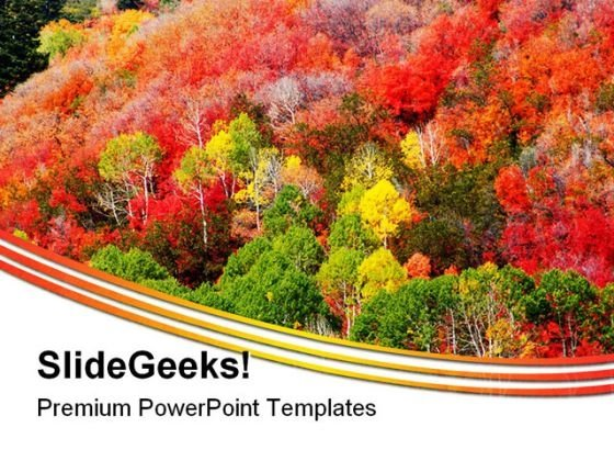 Mountain Fall Colors Nature PowerPoint Templates And PowerPoint Backgrounds 0211