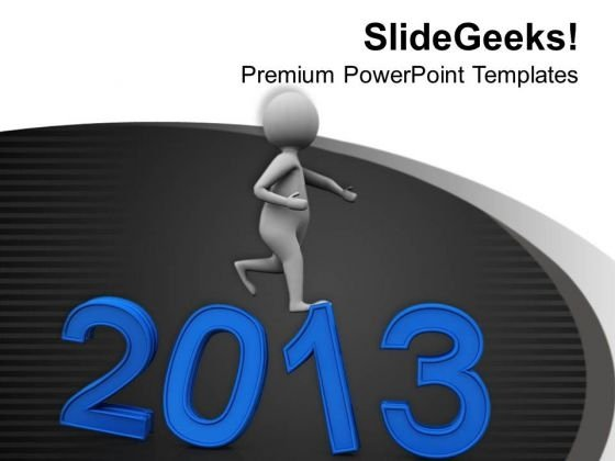 Move Towards Business Targets This New Year PowerPoint Templates Ppt Backgrounds For Slides 0713