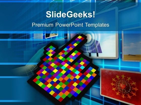 Move Towards Technology PowerPoint Templates Ppt Backgrounds For Slides 0513