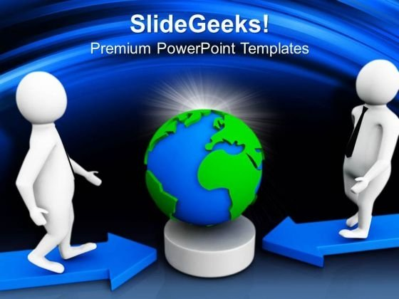 Move Towards The Global Market PowerPoint Templates Ppt Backgrounds For Slides 0713